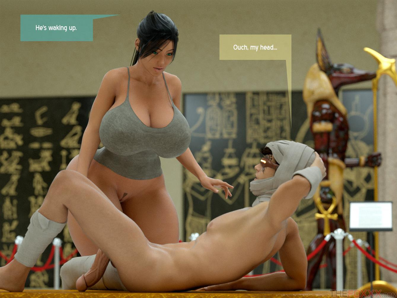 A Horny Mummy In The Museum & Gabhmet [The Foxxx]